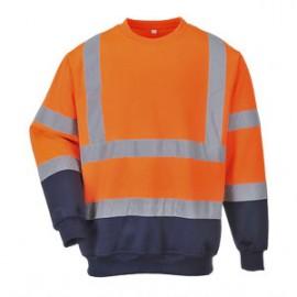 sweat-shirt bicolore hivis