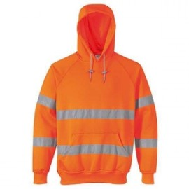 sweat-shirt capuche hivis